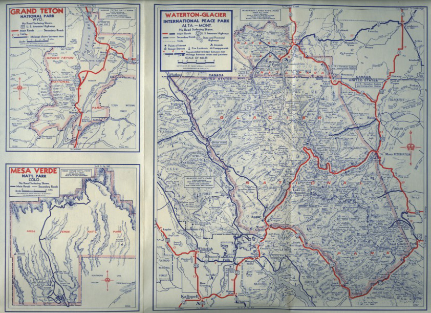 one of my students recently purchased one offered by mobil these detailed road maps are always printed in blue and red